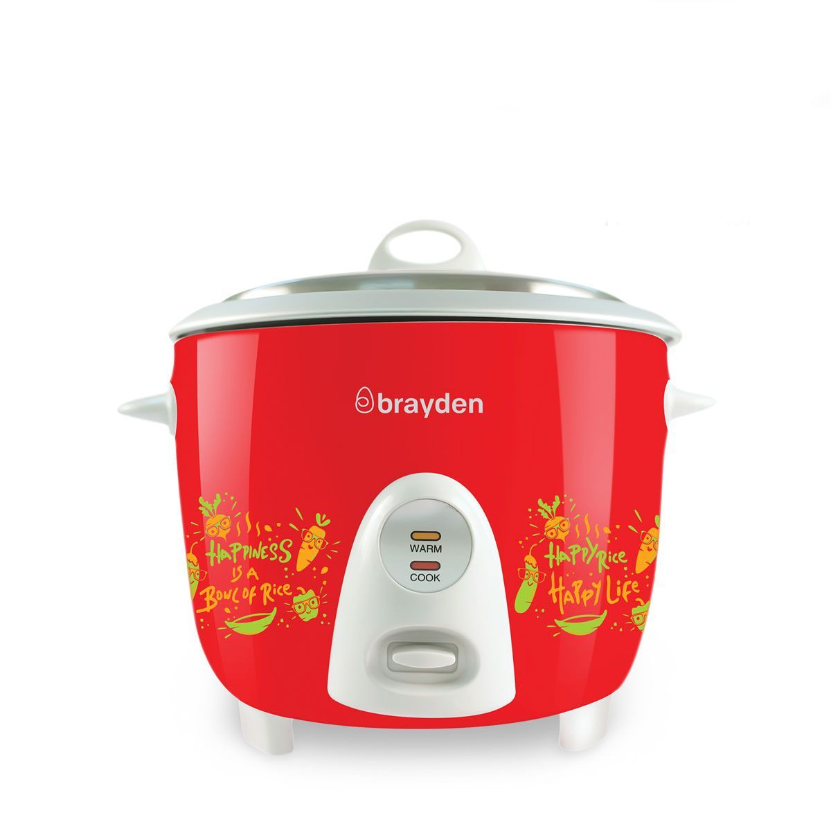 Brayden Rizo - 1.5L Electric Rice Cooker(Crimson Red)