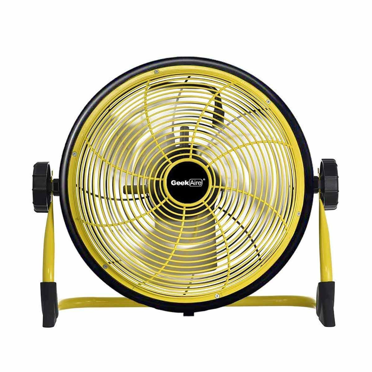 Geek Aire Rechargeable Table Fan - 12 Inch (Yellow)
