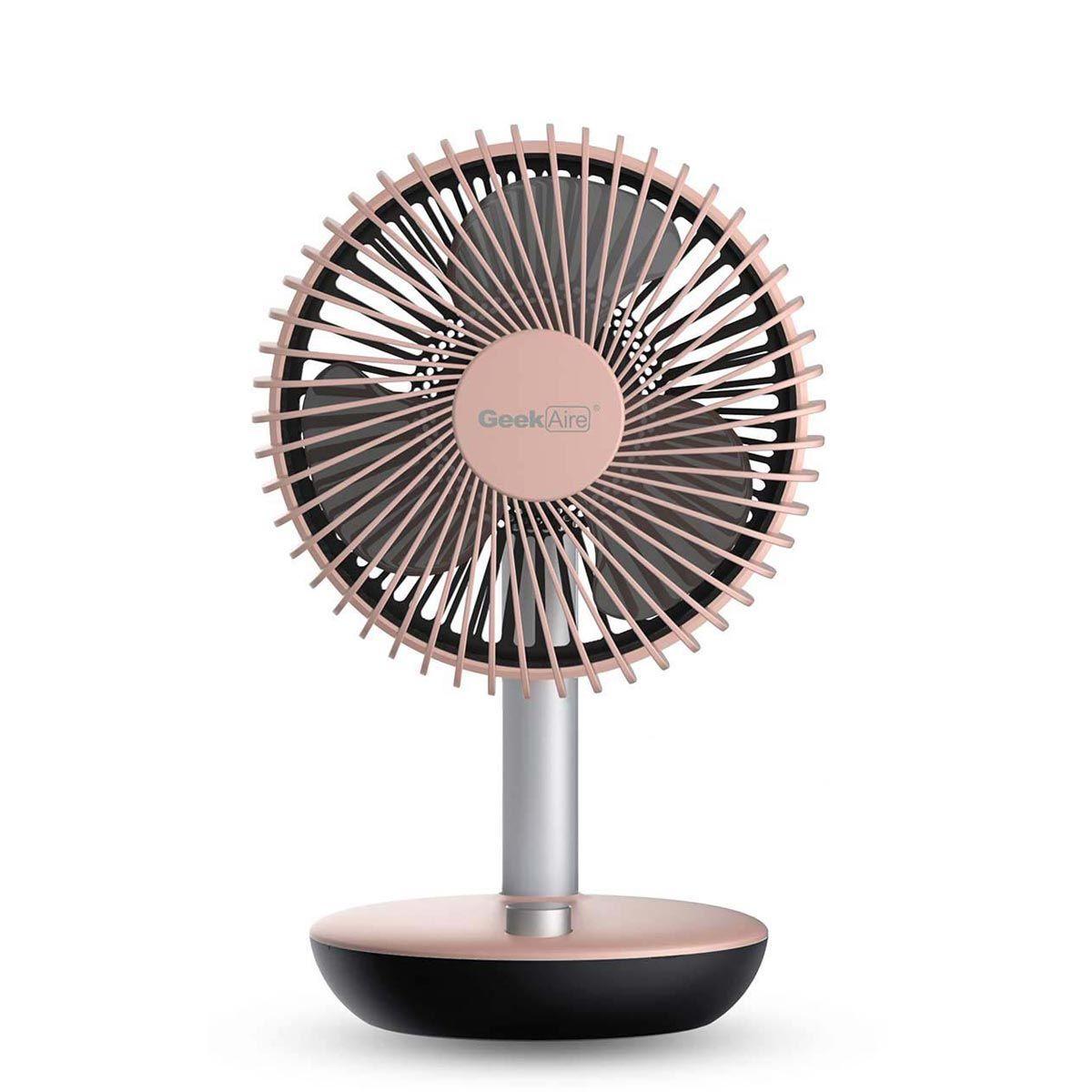 Geek Aire Rechargeable Mini Fan - 6 Inch Oscillating (Pink)