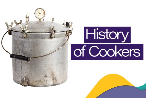 Three generations of pressure cookers
